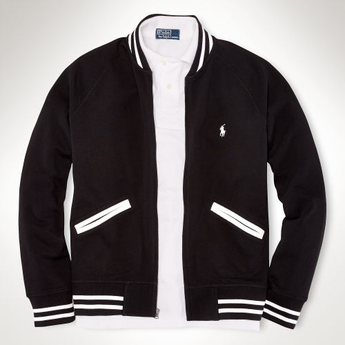 Lyst - Polo ralph lauren Mesh Baseball Jacket in Black for Men
