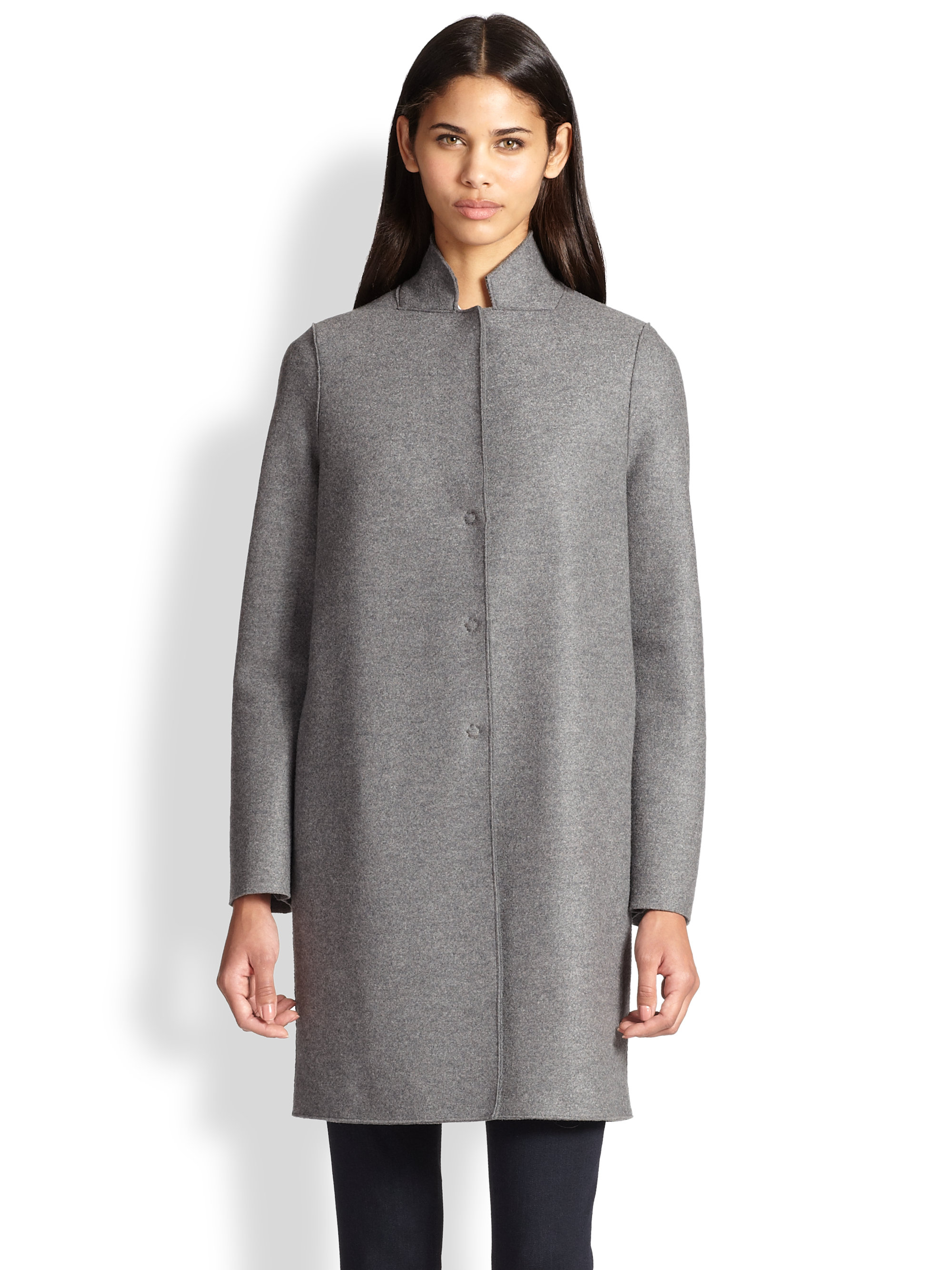 Harris Wharf London Wool Coat In Grey Gray Lyst