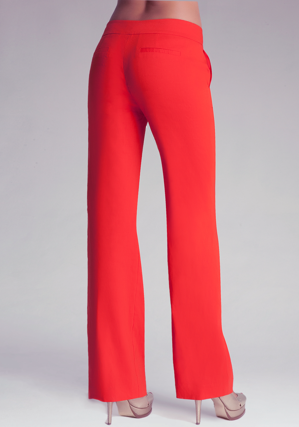 Bebe Wide Leg Trousers in Red