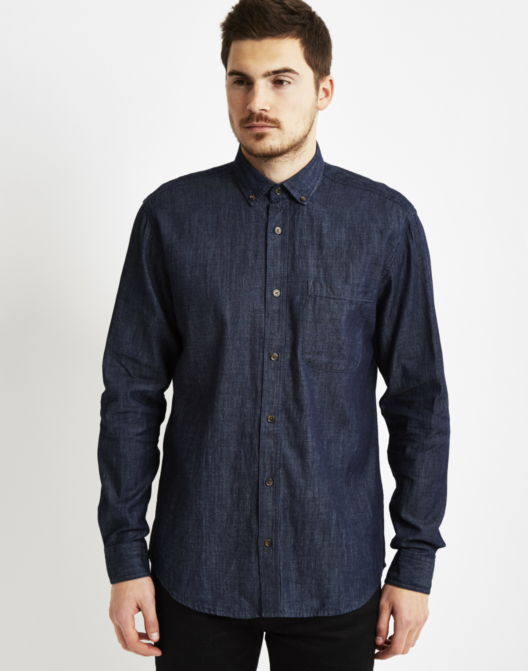 to wear - Blue Navy shirt men pictures video