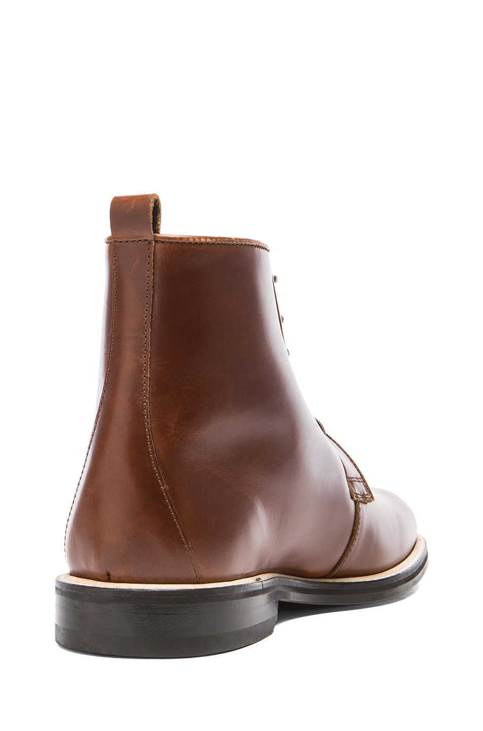 carven cognac leather boots in brown lyst