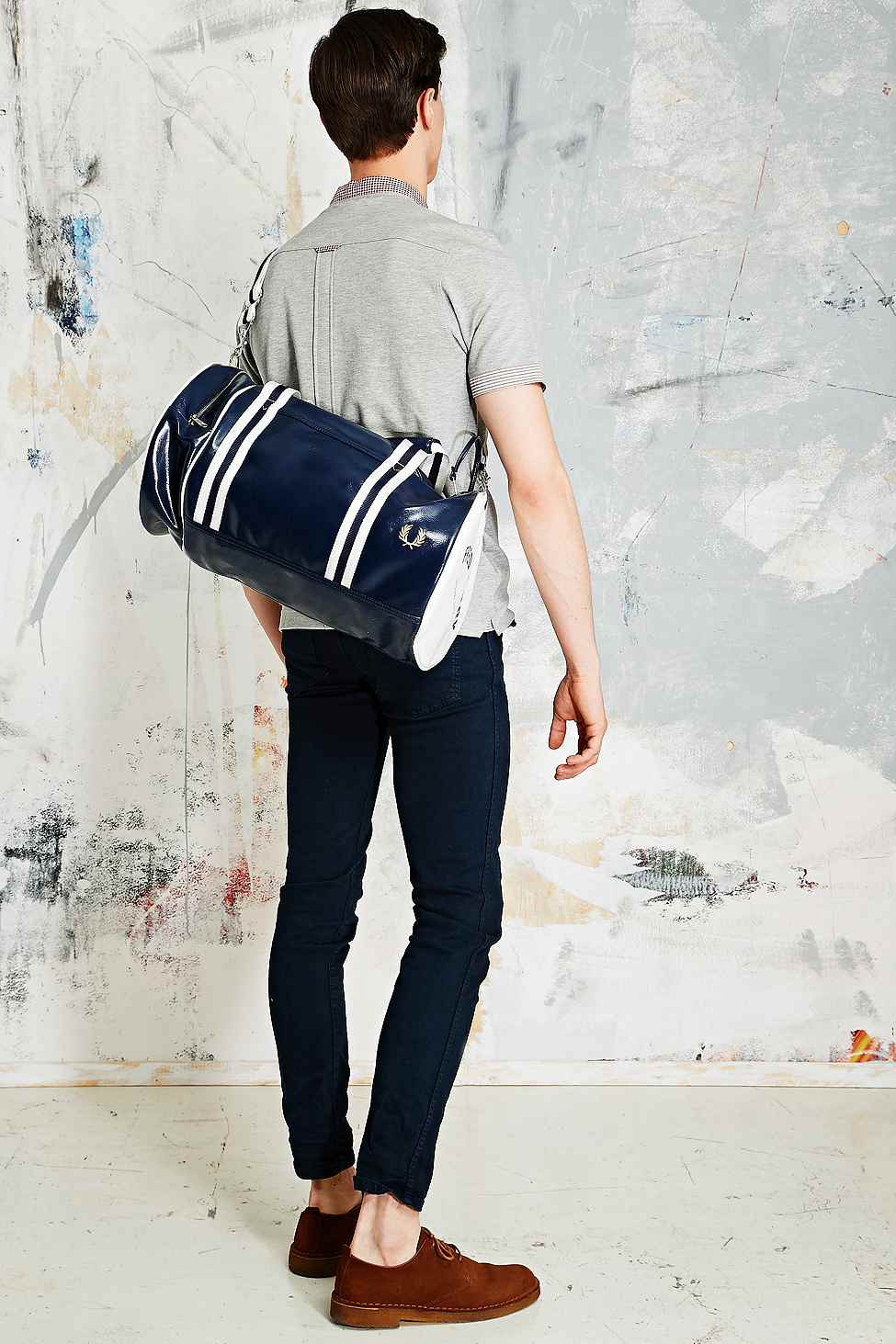5f04dd6c36 Fred Perry Classic Barrel Bag in Blue in White for Men - Lyst