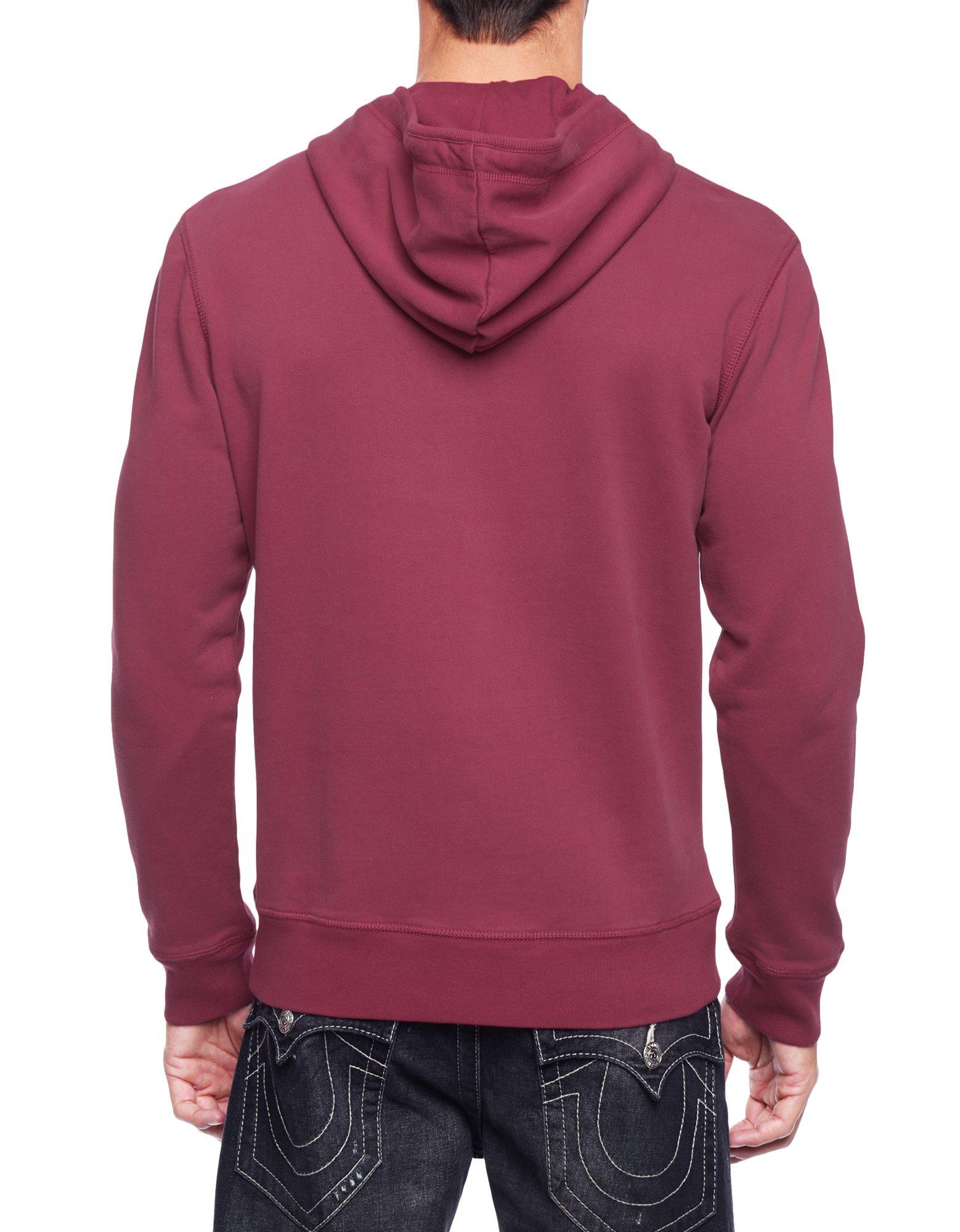 true religion fleece mens hoodie in red for men lyst. Black Bedroom Furniture Sets. Home Design Ideas