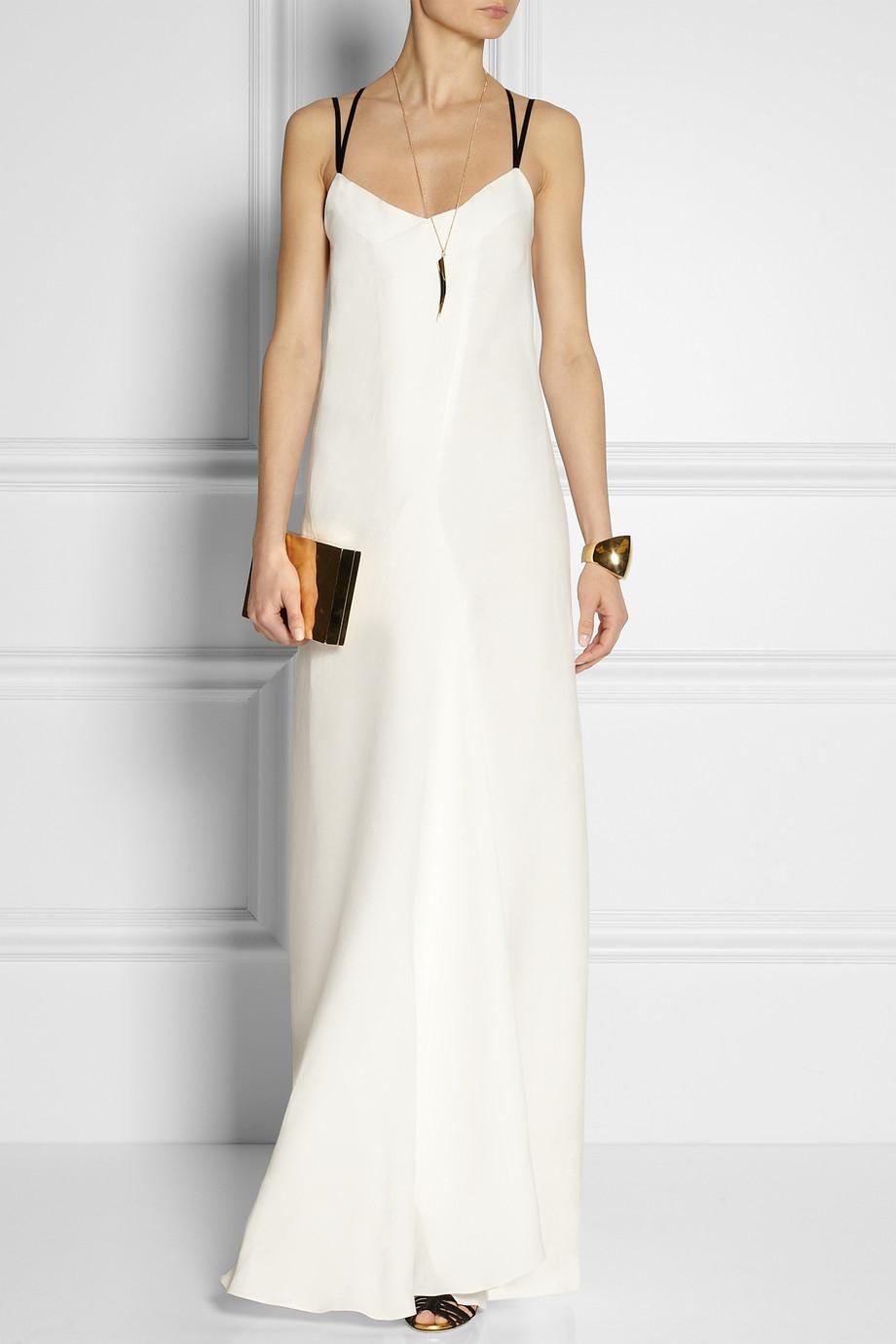 Maiyet Linen-blend Slip-style Maxi Dress in White | Lyst