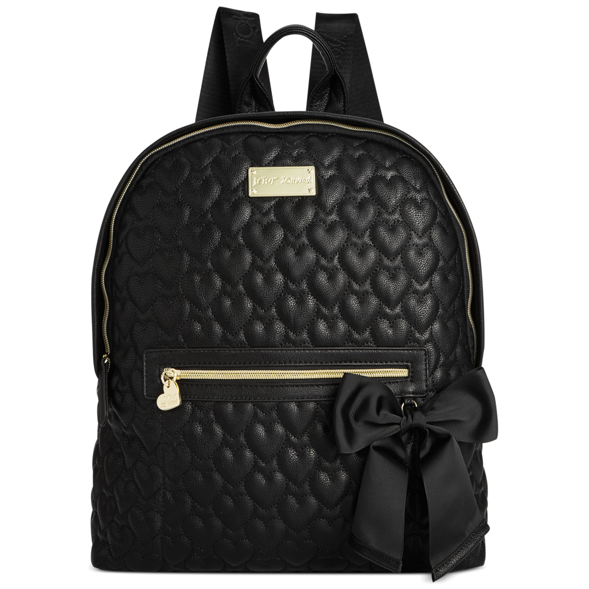 Betsey Johnson Quilted Backpack In Black Black Quilted