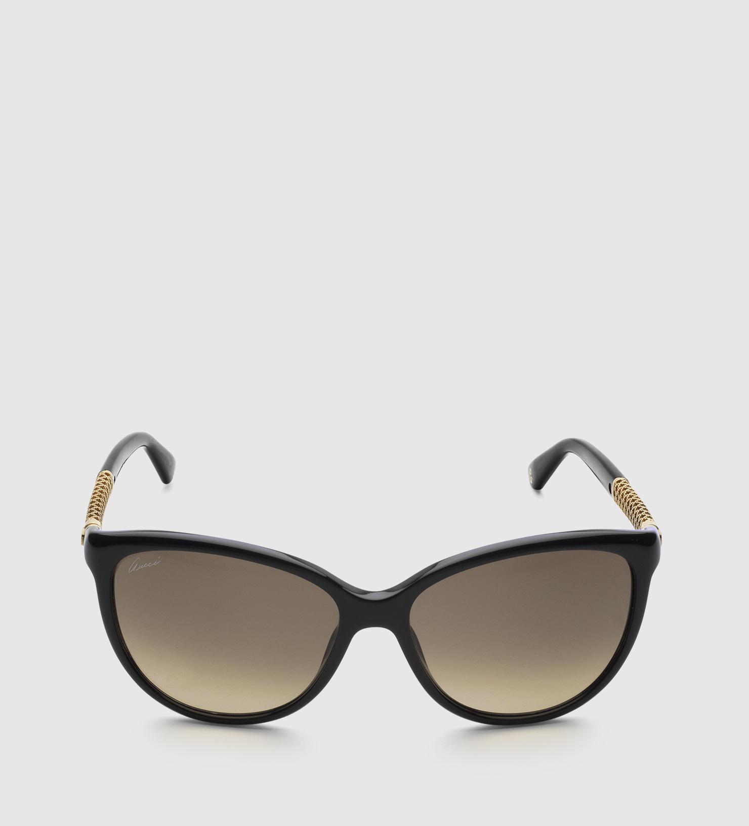 0704960d77 Gucci Cat-eye Diamantissima Sunglasses in Black - Lyst