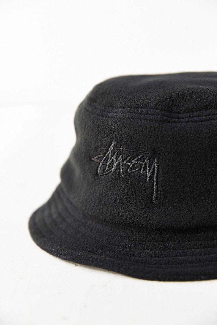 Lyst - Stussy X Uo Polar Fleece Bucket Hat in Black 3af6ae6ea2d