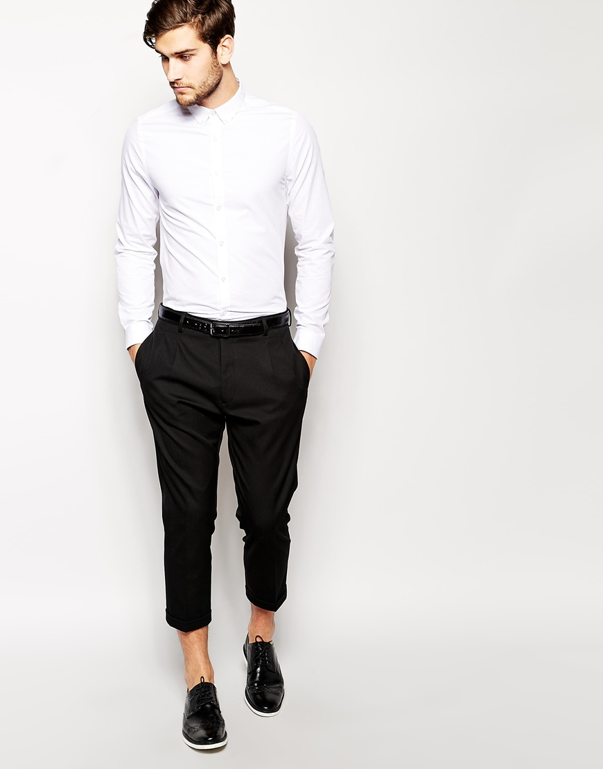 Selected Selected Ankle Grazer Trousers In Tapered Fit In