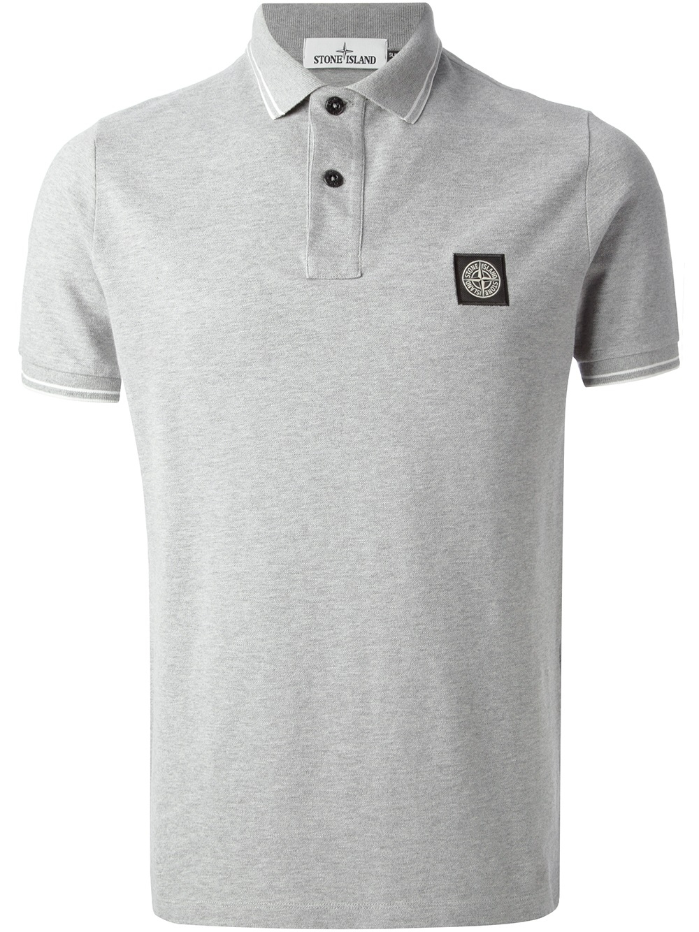 e204bb60 Stone Island Polo Shirt in Gray for Men - Lyst