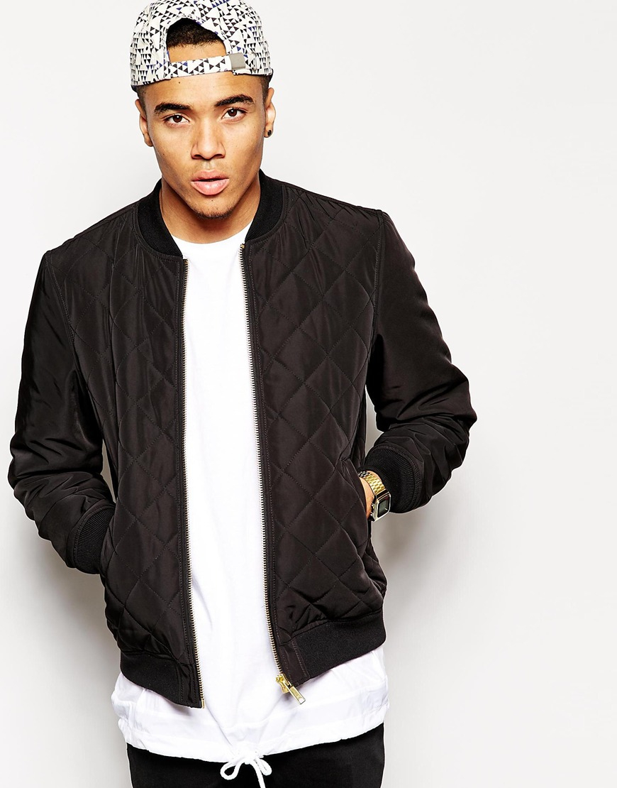 Padded Bomber Jacket Men - Coat Nj