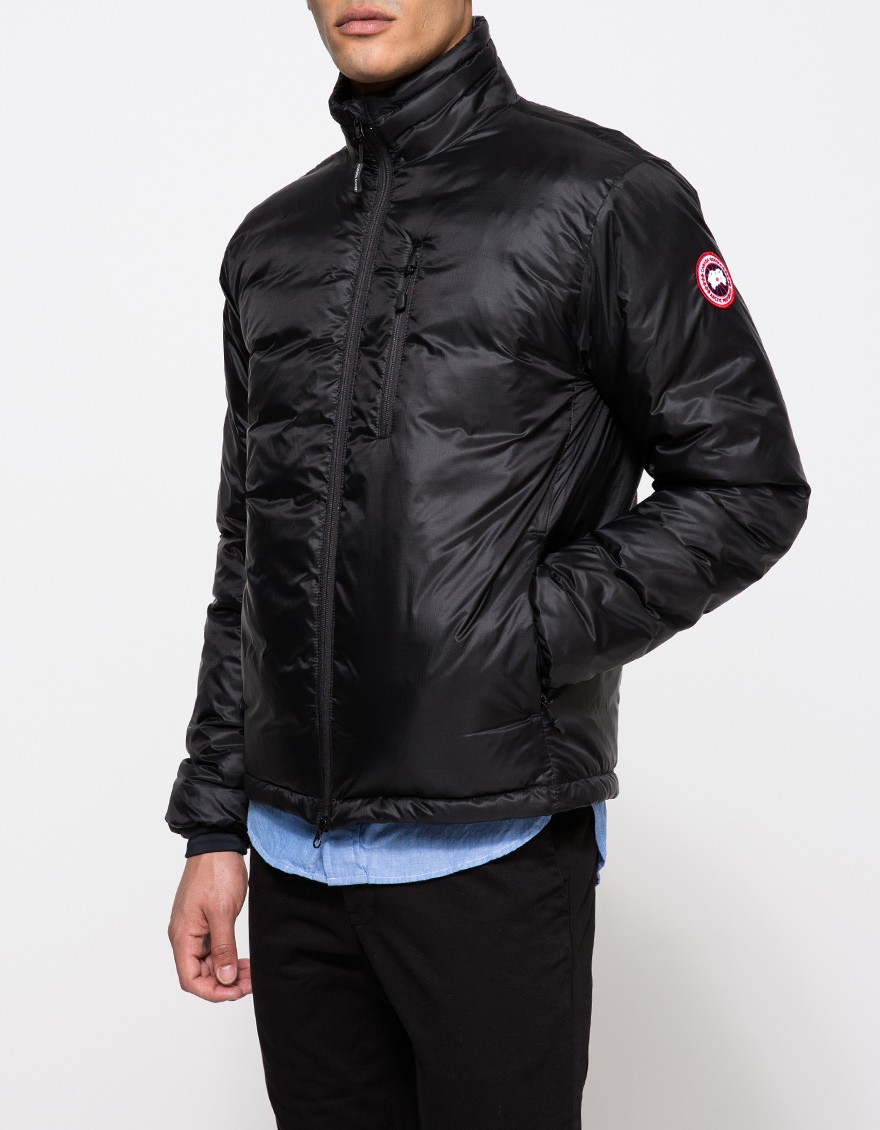 Canada Goose parka replica store - Canada goose Lodge Down Jacket In Black in Black for Men | Lyst
