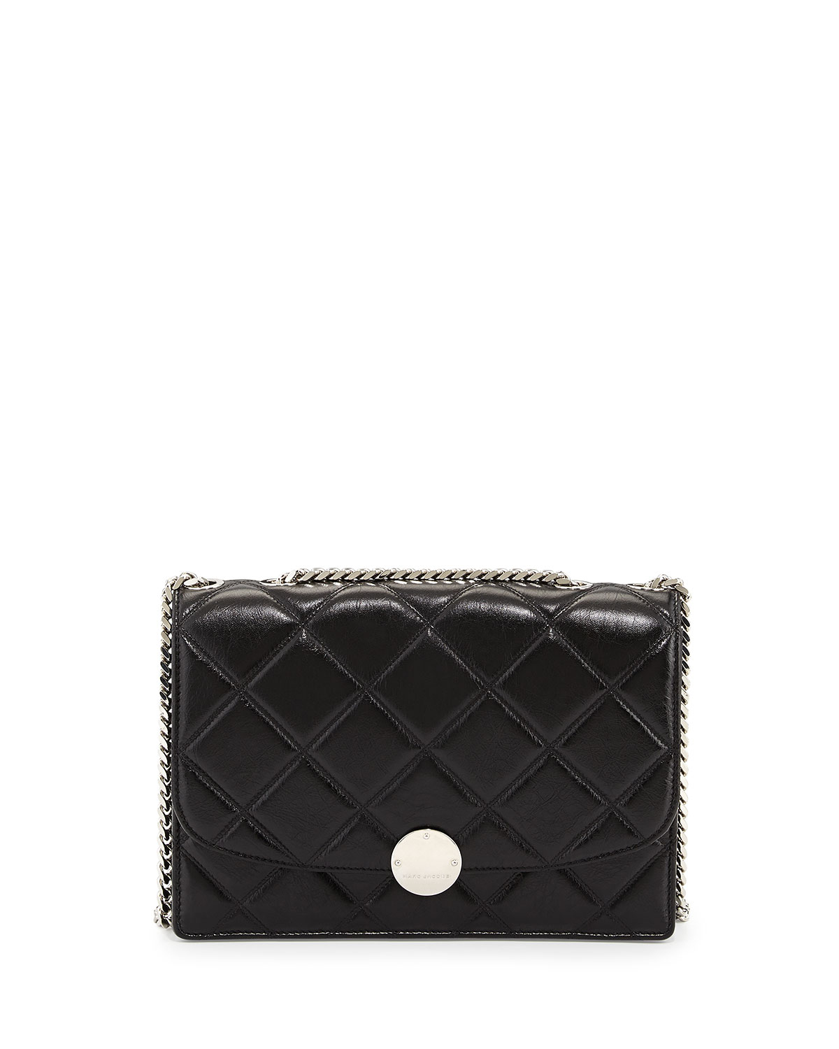 Lyst - Marc Jacobs Quilted Trouble Shoulder Bag in Black 2a661e9f1e1d3