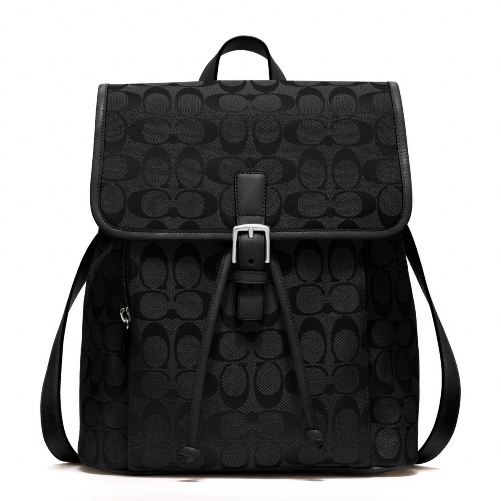 Coach Signature Backpack in Black | Lyst