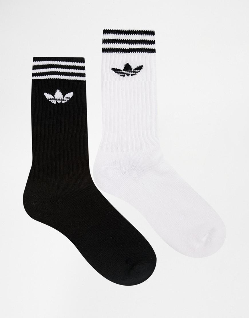 1d7fcbe38b8a1c Lyst - adidas Originals 2 Pack Crew Socks In Multi Aj8916 for Men