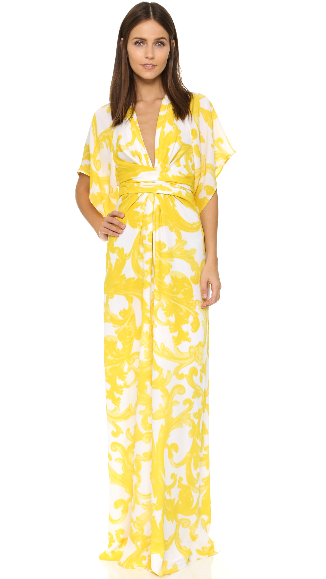 Issa Pollyanna Maxi Dress in Yellow   Lyst