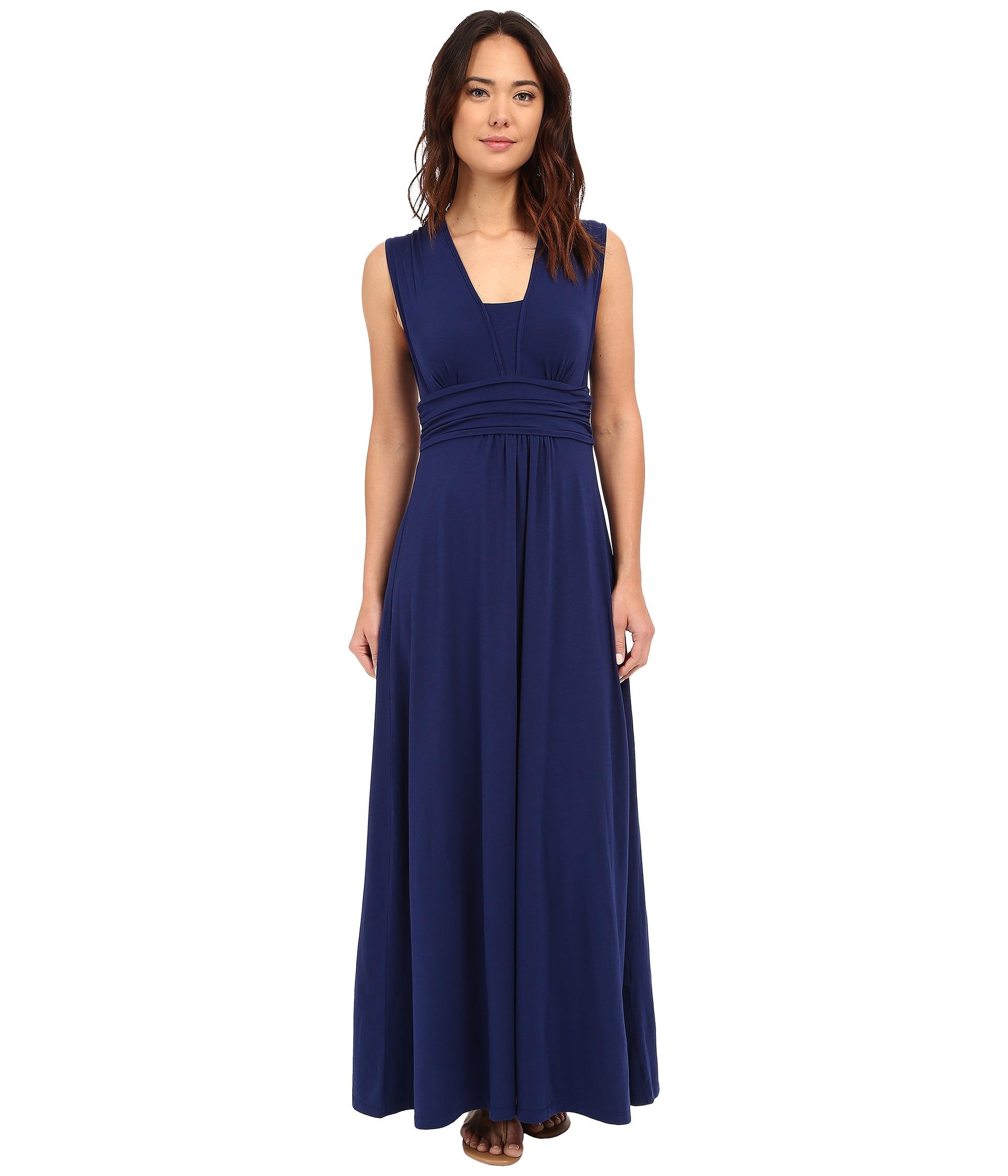 Cotton v-neck maxi dress