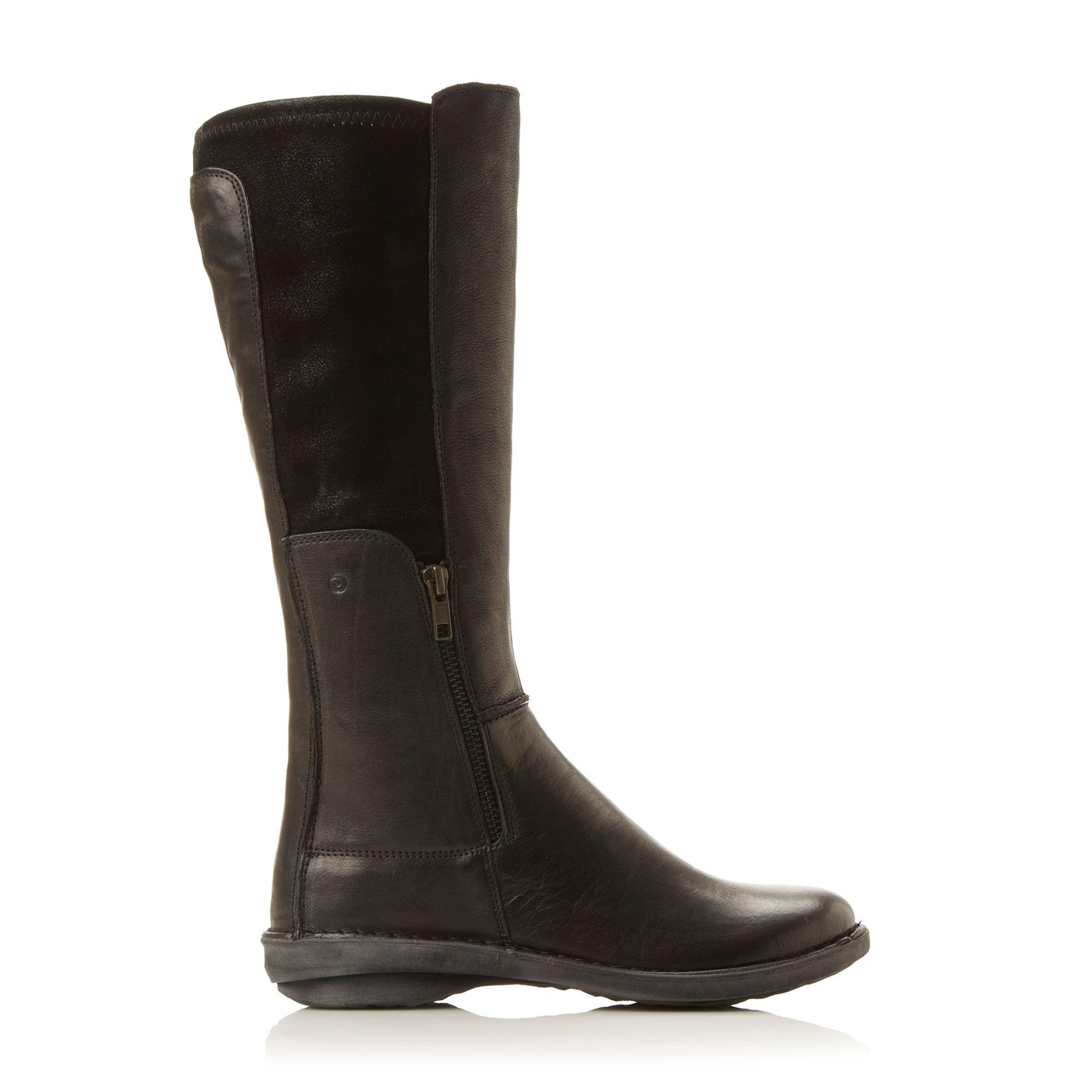 dune roland zip detail stretch boots in black lyst