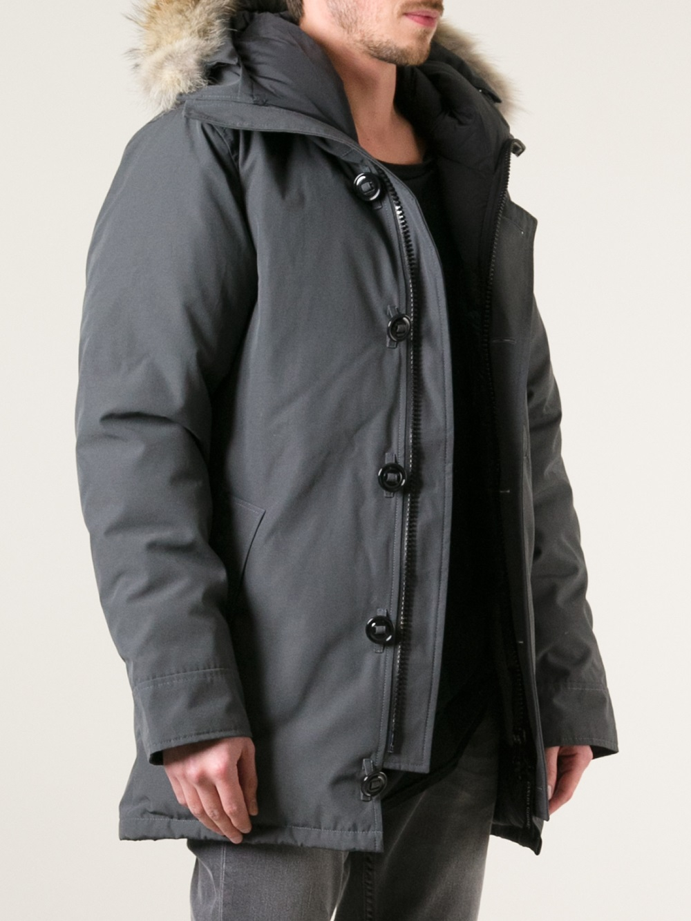 lyst canada goose 39 chateau 39 parka in gray for men. Black Bedroom Furniture Sets. Home Design Ideas