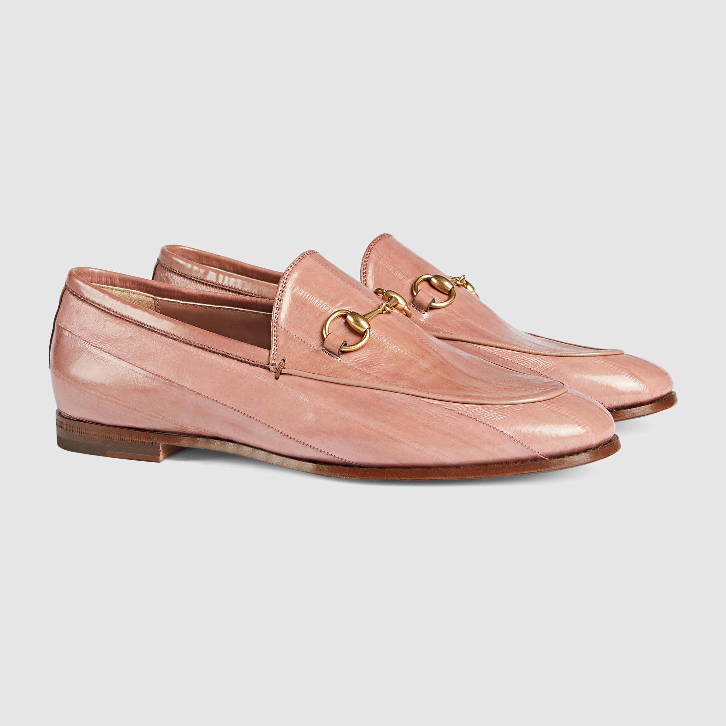 34425f8e2 Gucci Jordaan Eel Loafer in Pink - Lyst