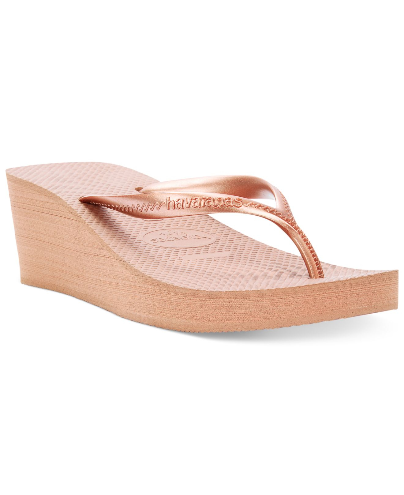 Havaianas Womens High Fashion Wedge Flip Flops In Pink  Lyst-2235