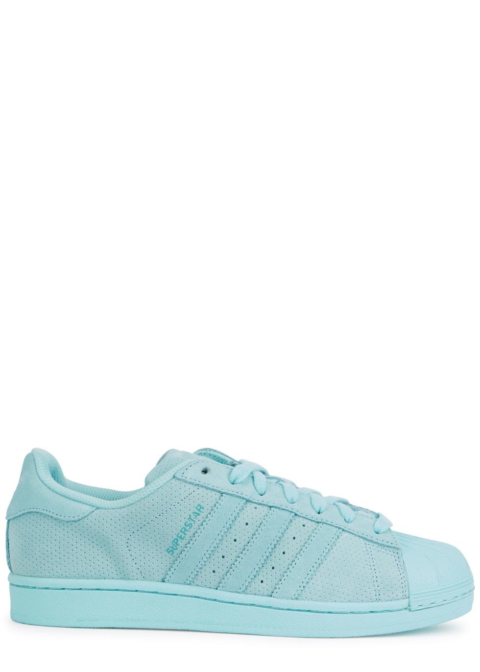 483cc5580370 amazon adidas originals superstar mint suede trainers in blue lyst a2aaa  57d33