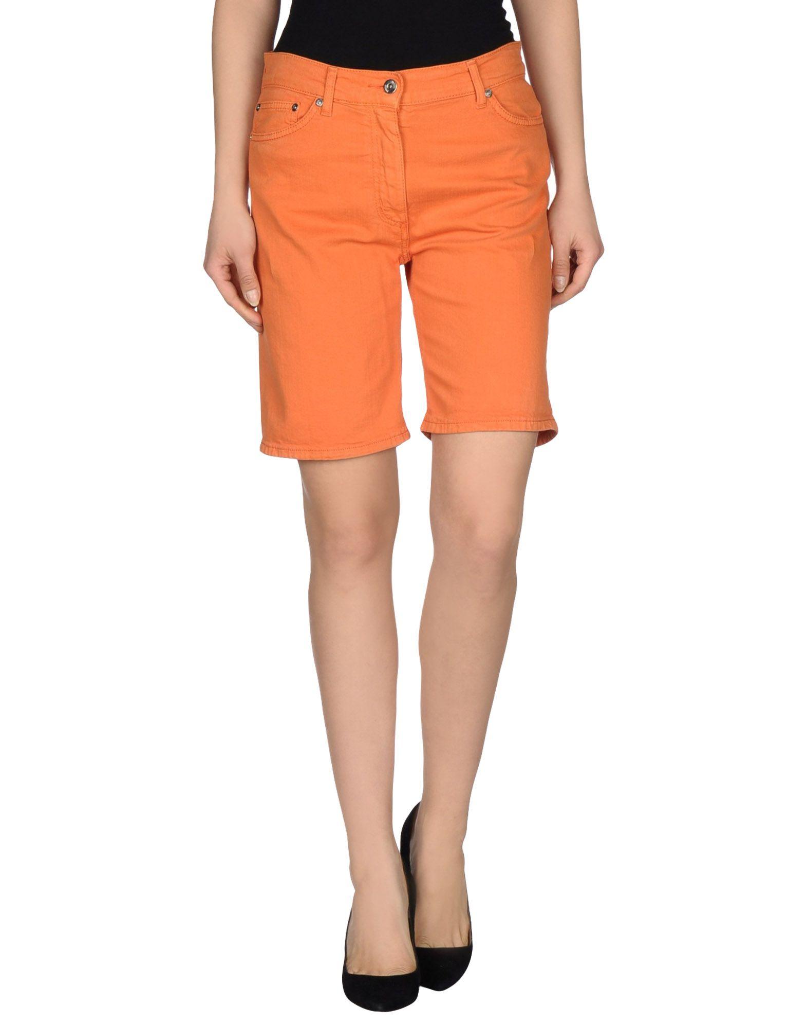 dondup denim bermudas in orange lyst. Black Bedroom Furniture Sets. Home Design Ideas