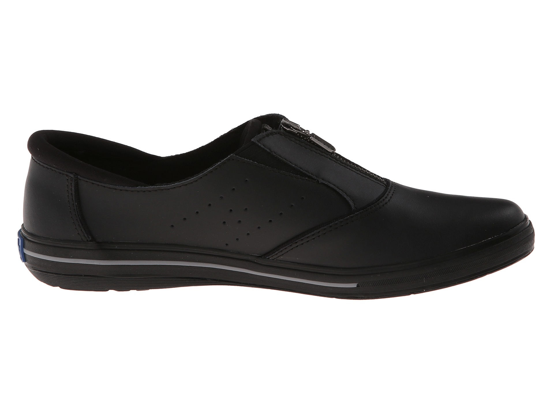 keds pacey zip smooth leather in black lyst