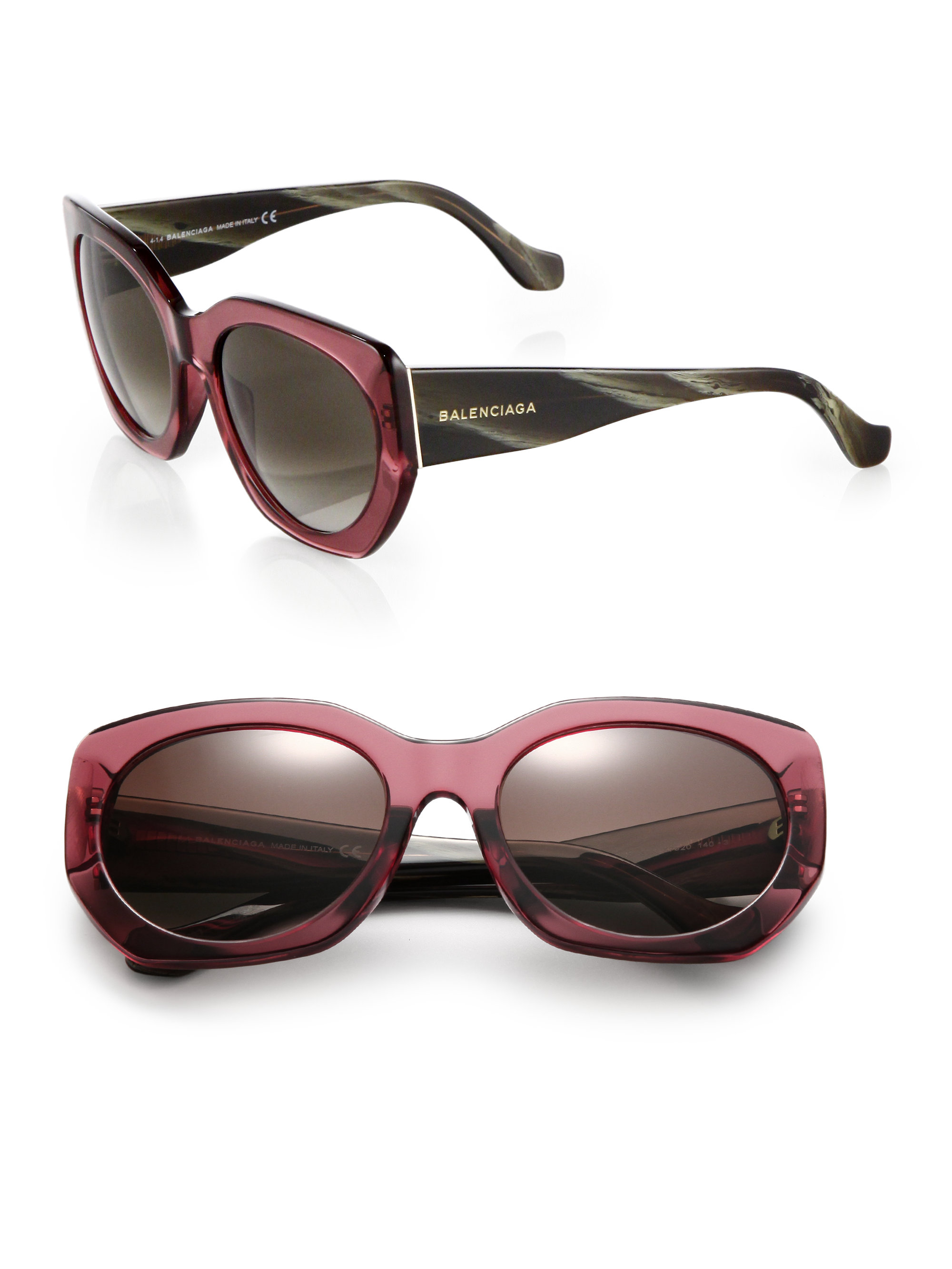 Balenciaga  Pink 57mm Round Sunglasses  Lyst