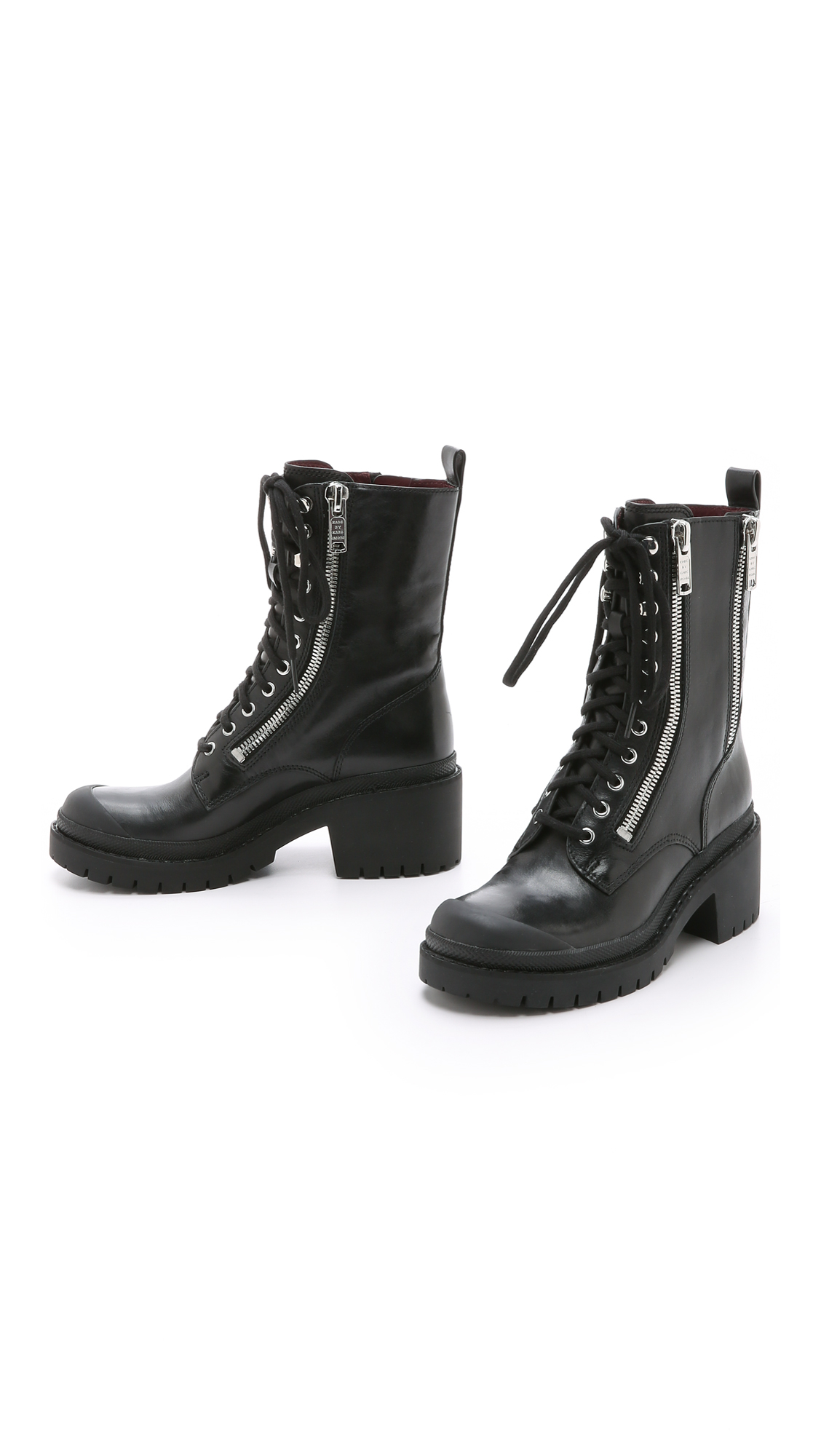 Lyst Marc By Marc Jacobs Richardson Zip Army Boots