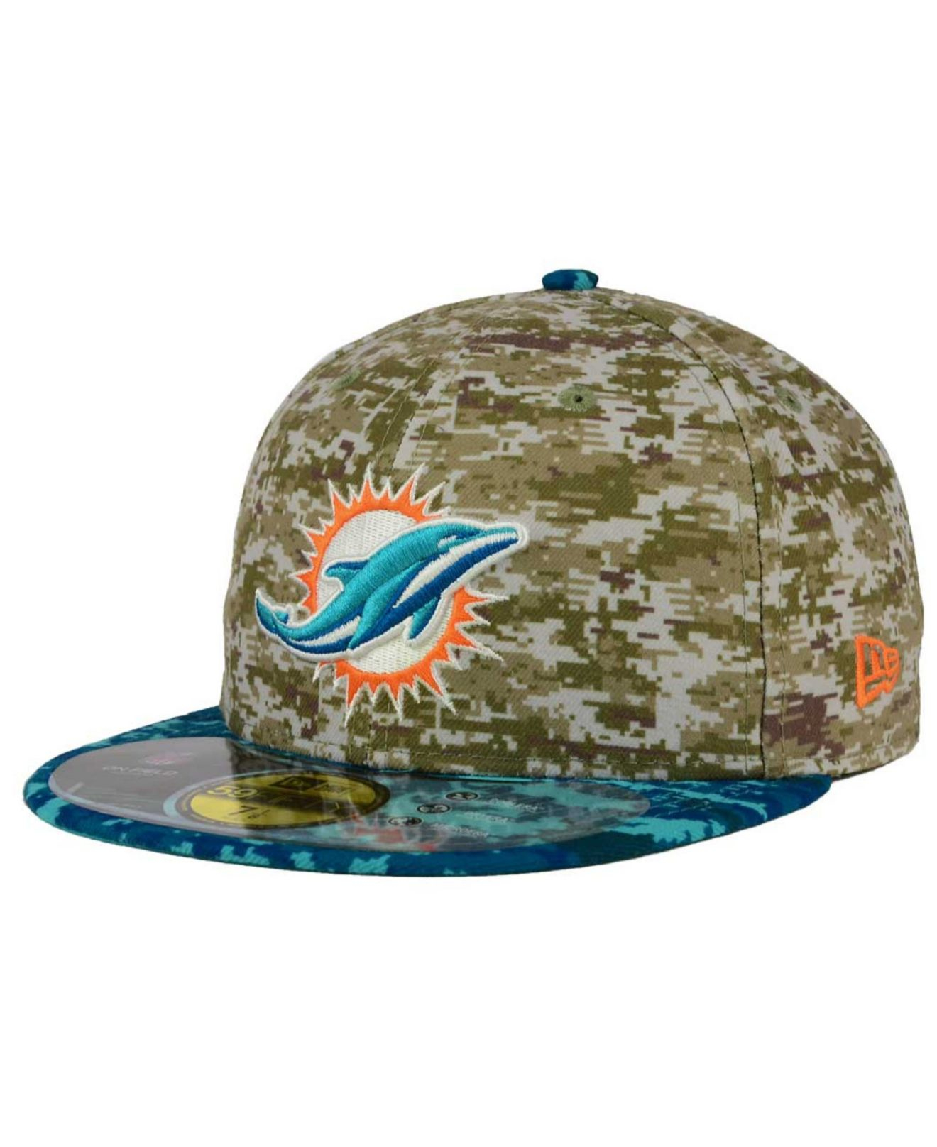 sports shoes 14a12 4f9ce Lyst - KTZ Miami Dolphins Salute To Service 59fifty Cap in Green for Men
