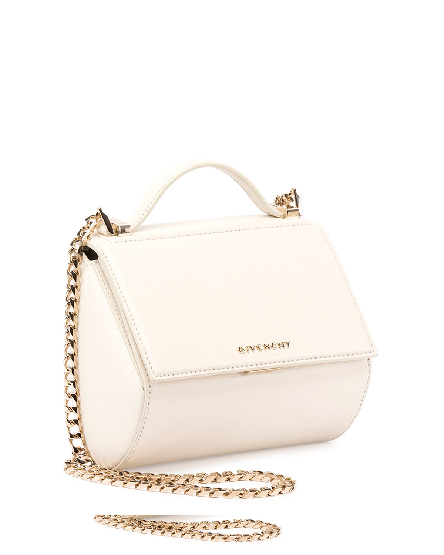 b8510ac68a Givenchy Pandora Box Mini Chain Shoulder Bag in Natural - Lyst
