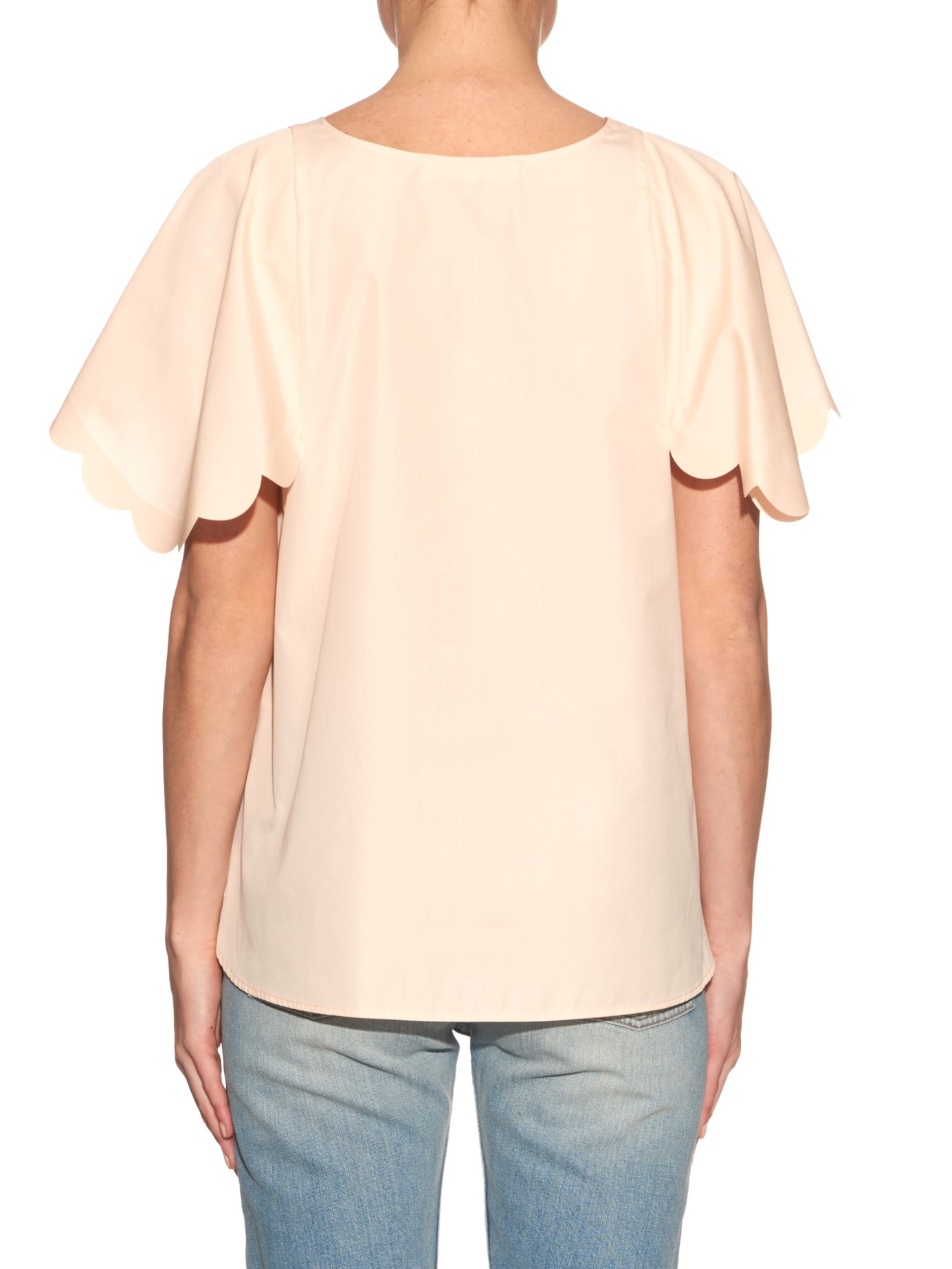 See by Chloé Embellished Oversize Top Choice Outlet Finishline Huge Surprise Cheap Online LbKjojv2I