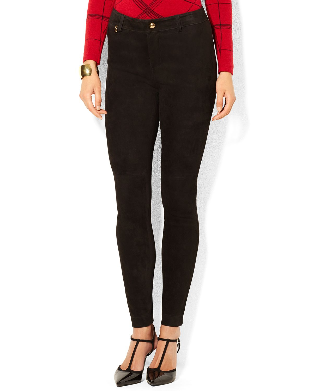 Elegant Ralph Lauren Black Label Casual Pants In Blue  Lyst