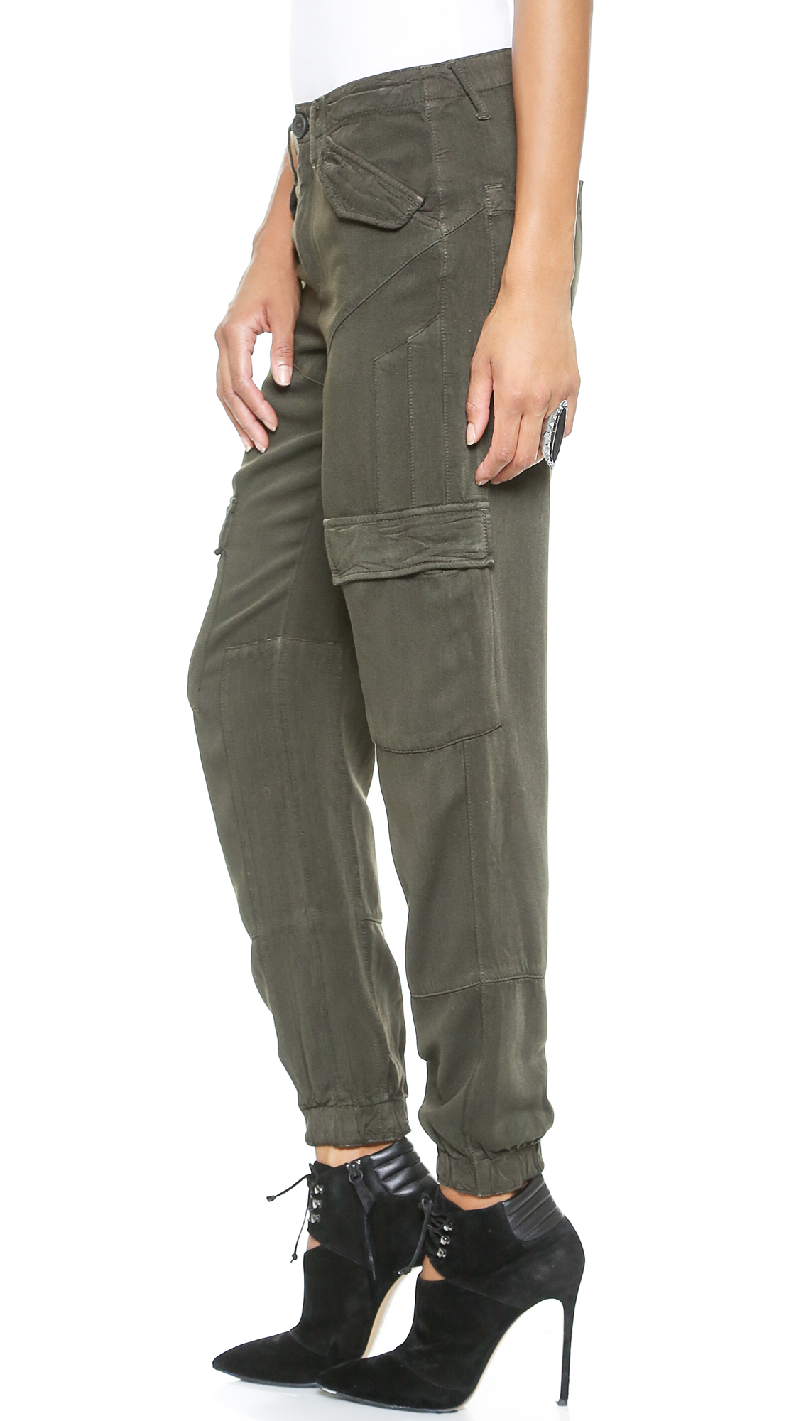 Dwp Kat Slouchy Cargo Pants - Hunter Green in Green | Lyst
