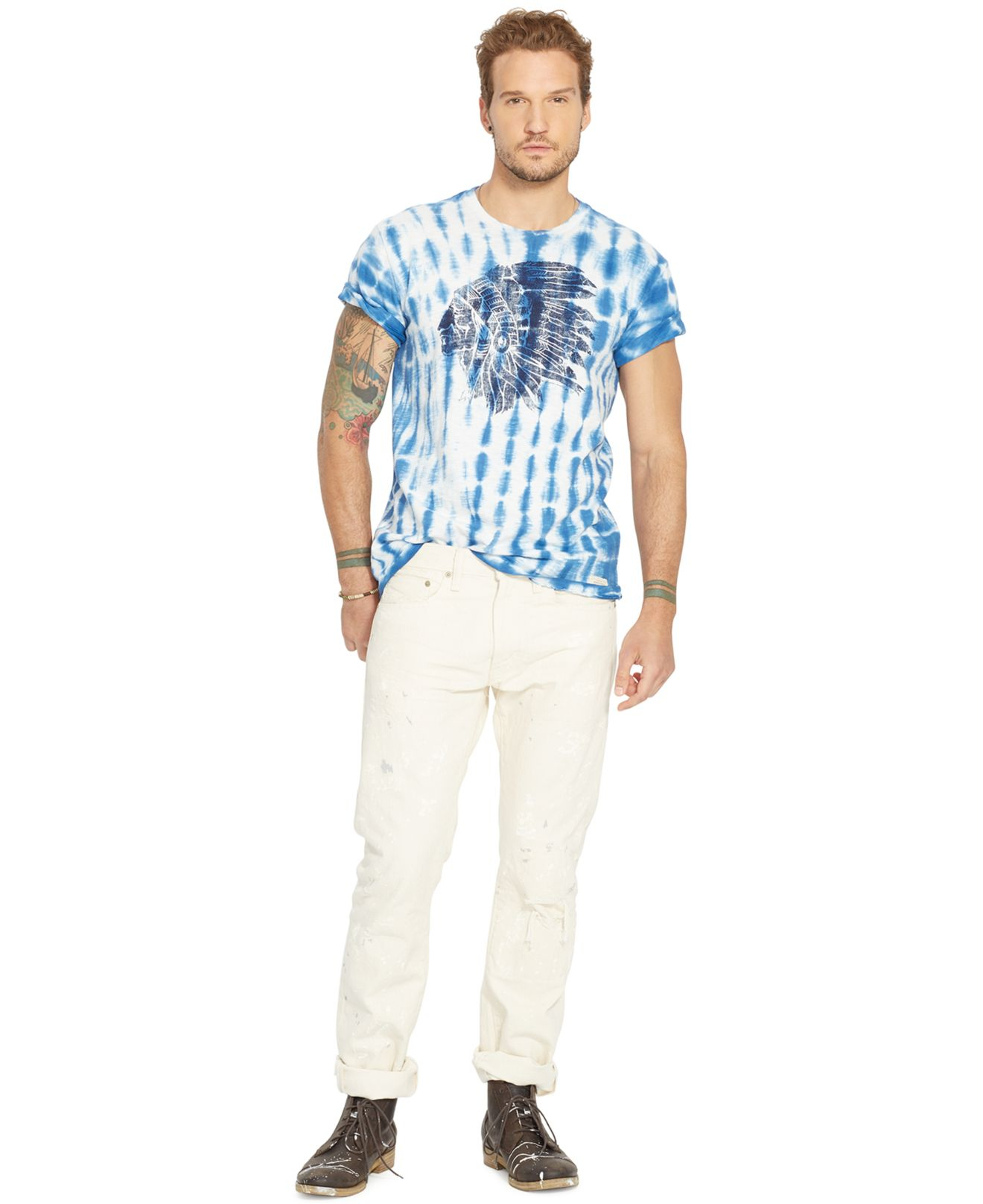 cd6e8c2288 Lyst - Denim   Supply Ralph Lauren Tie-dyed Graphic T-shirt in Blue ...