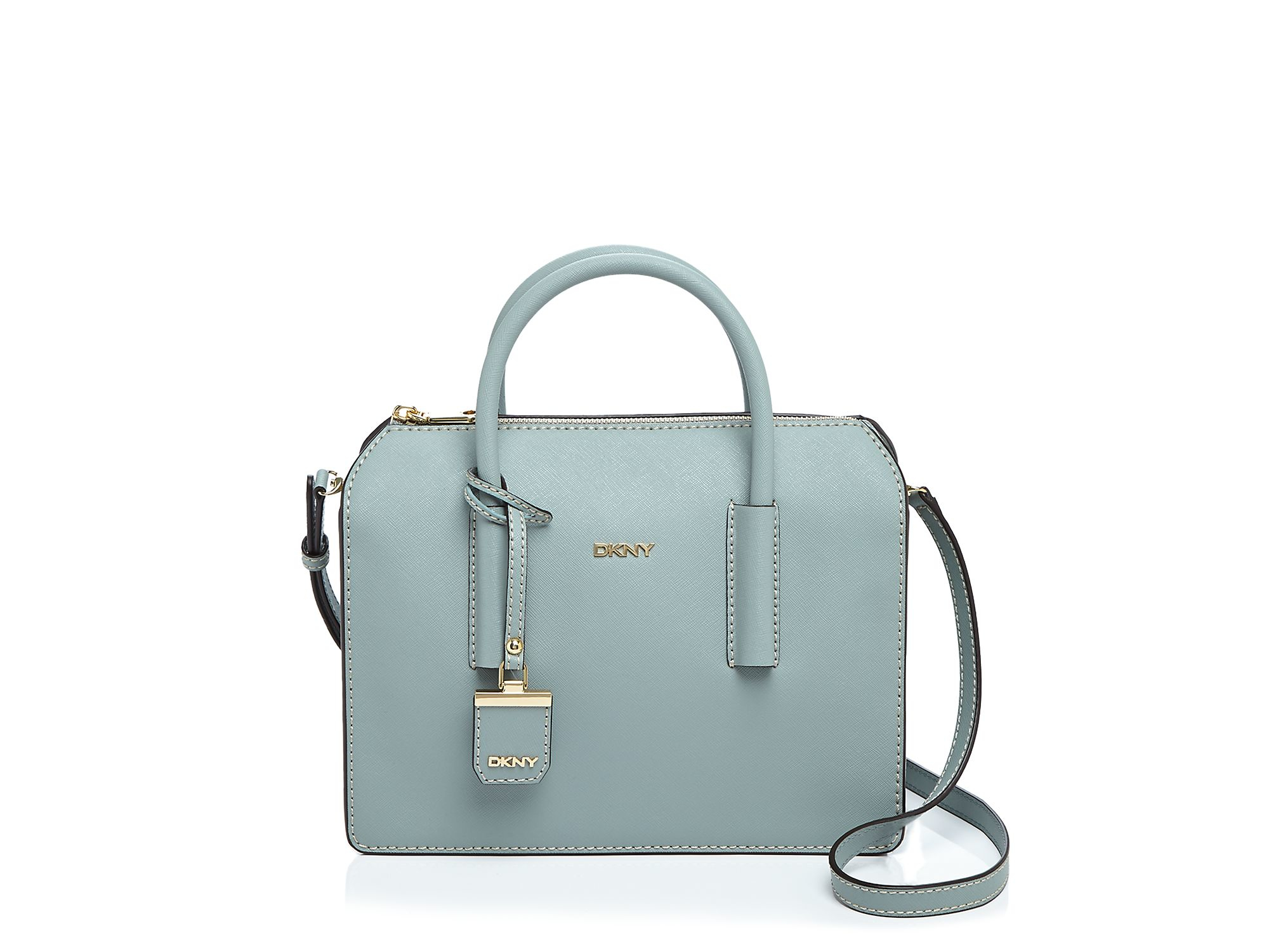 Dkny Bryant Park Saffiano Satchel in Blue | Lyst