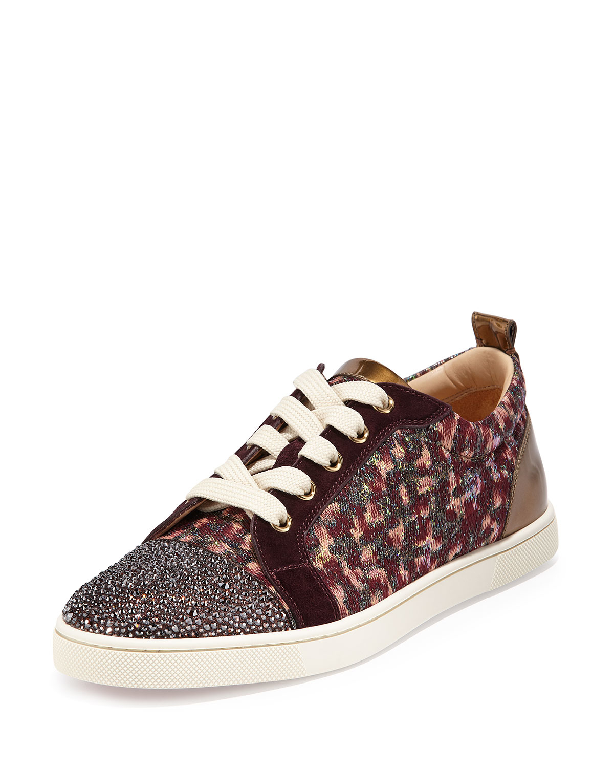 christian louboutin gondola strass low top sneaker in. Black Bedroom Furniture Sets. Home Design Ideas