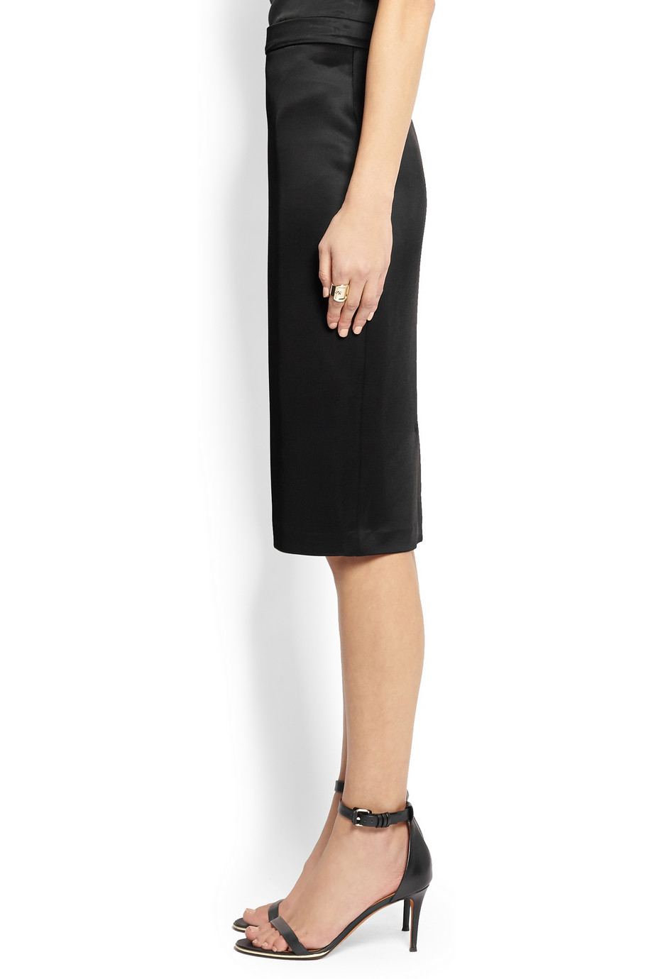 givenchy pencil skirt in black stretch jersey in black lyst