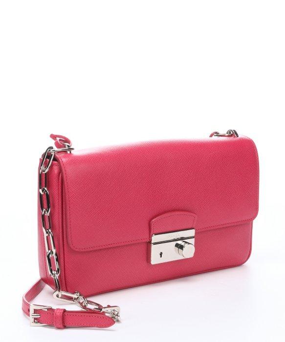 prada tote bag price - Prada Peony Saffiano Leather Chainlink Shoulder Bag in Purple ...