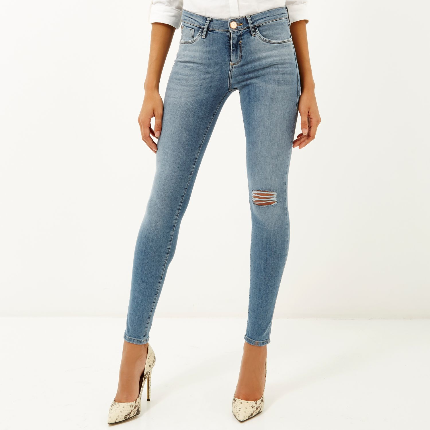 Super Skinny Ripped Jeans | Bbg Clothing