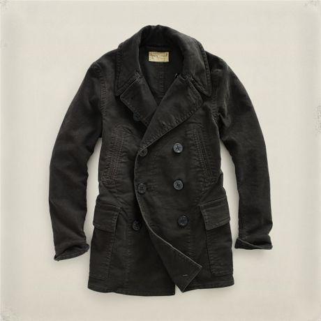 Rrl Nautilus Coat in Black for Men