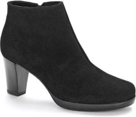la canadienne olive suede boots in black lyst