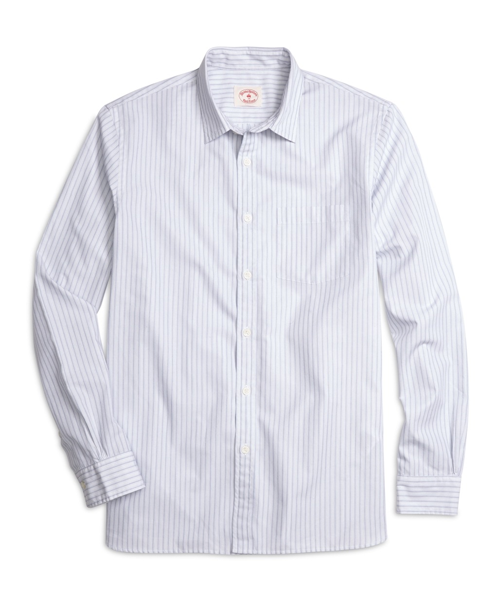 Lyst brooks brothers supima cotton banker stripe sport for Brooks brothers sports shirts