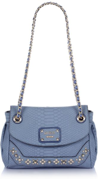 Guess Kimono Flap Bag in Blue