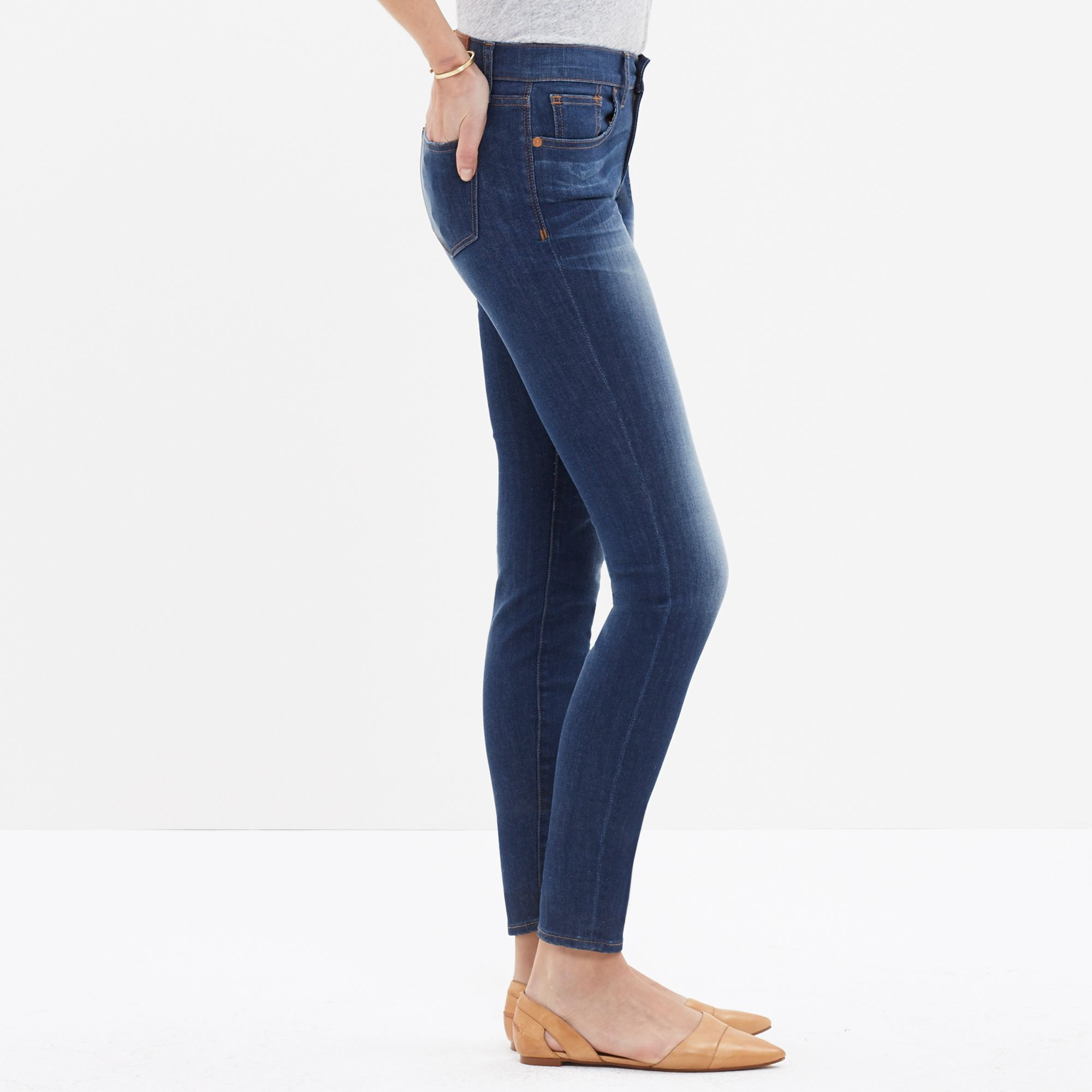 Madewell Skinny Skinny Crop Jeans In Chilton Wash in Blue | Lyst