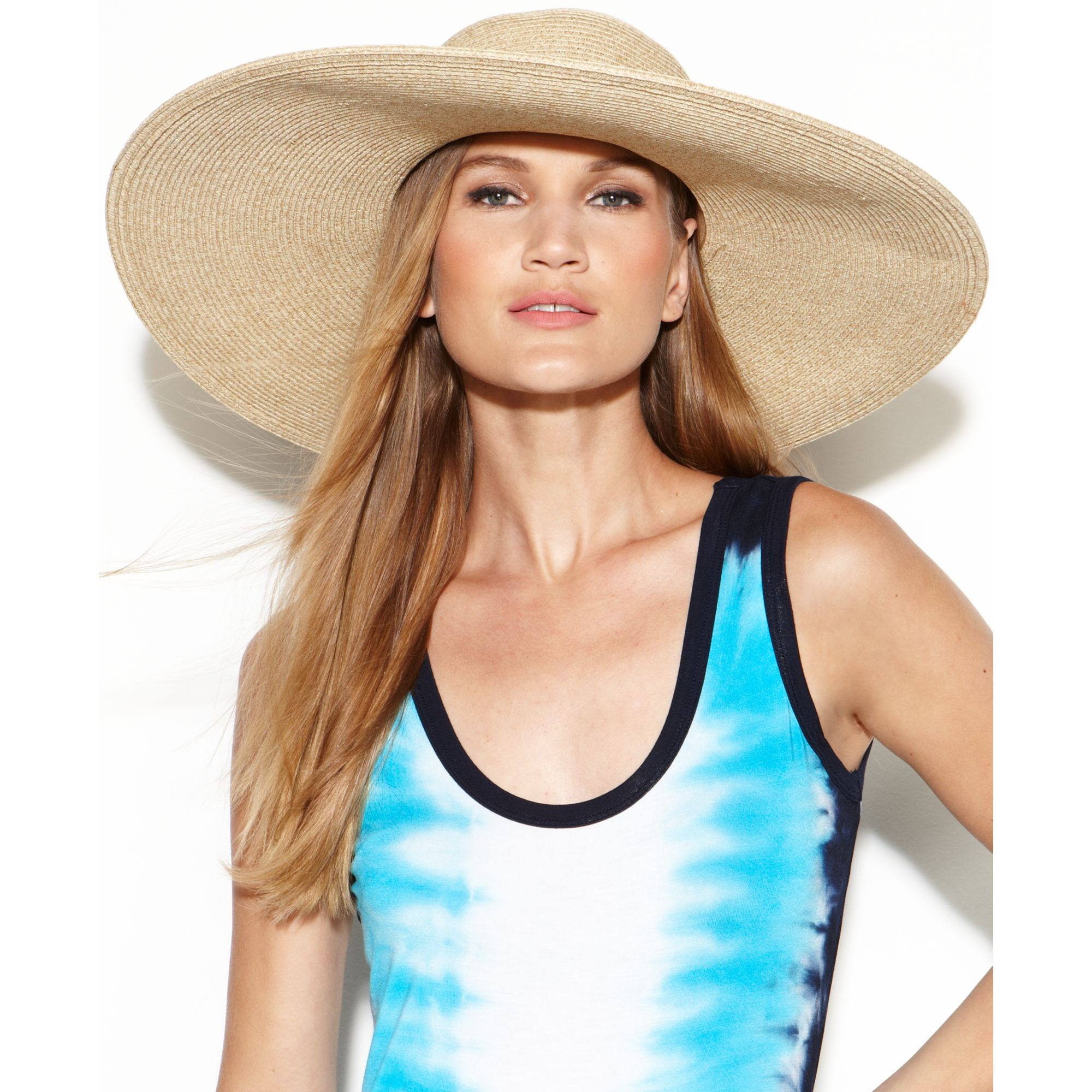 abb8b70f030 Lyst - Nine West Packable Super Floppy Hat in Natural