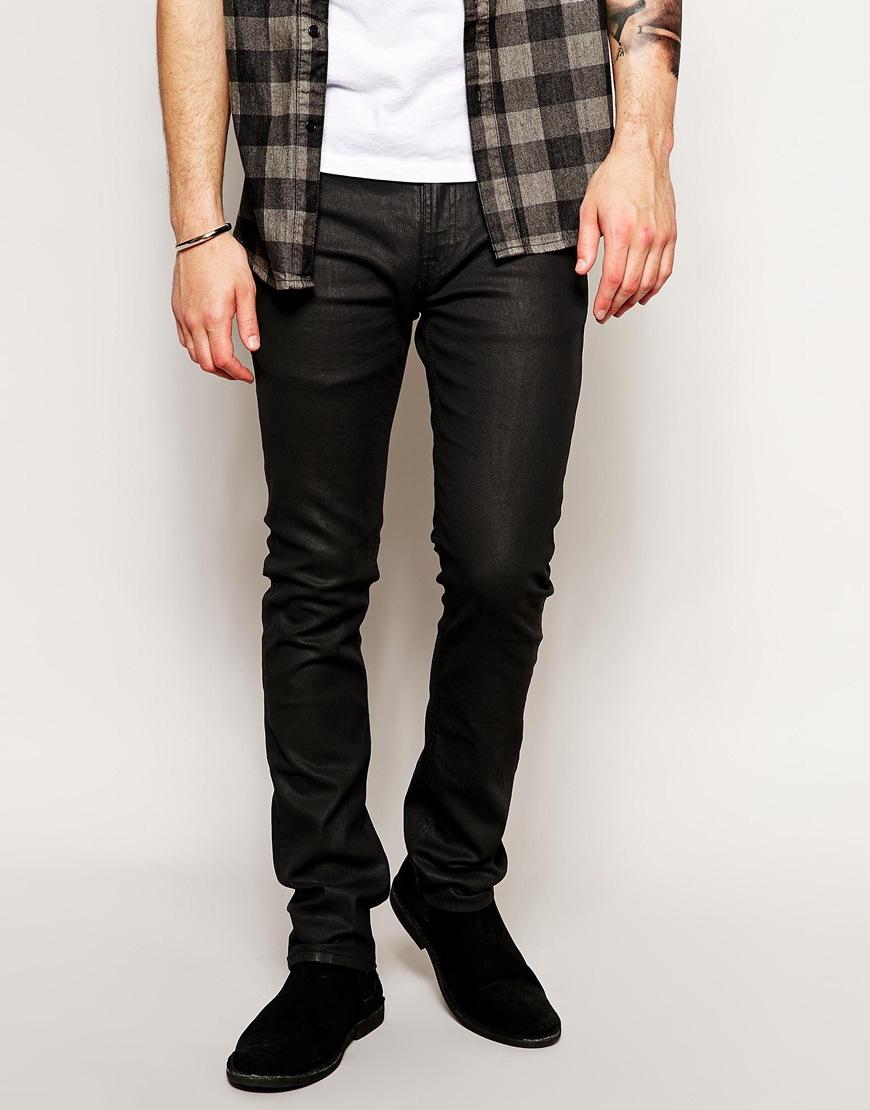 Lyst - Nudie Jeans Tube Tom Skinny Fit Back In Black -3866