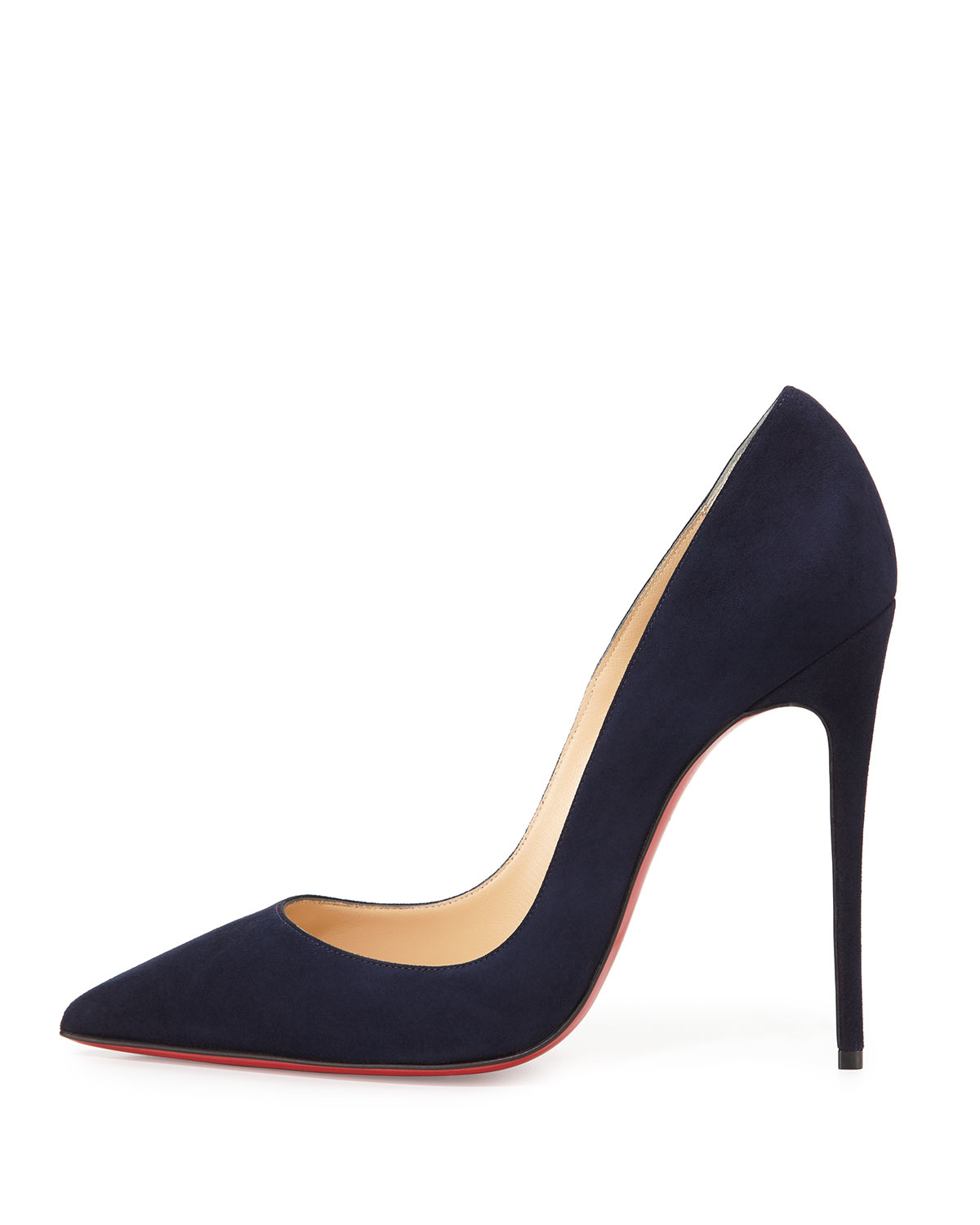 christian louboutin navy shoes