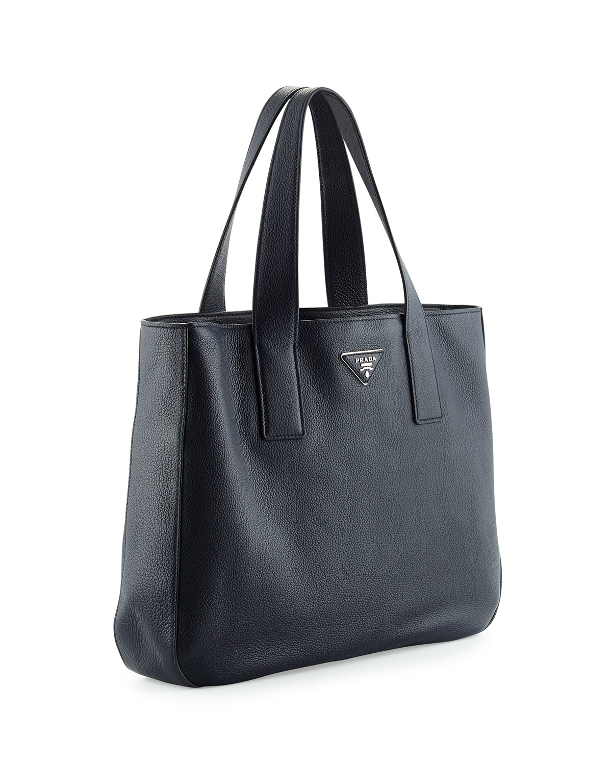 prada light brown leather tote bag