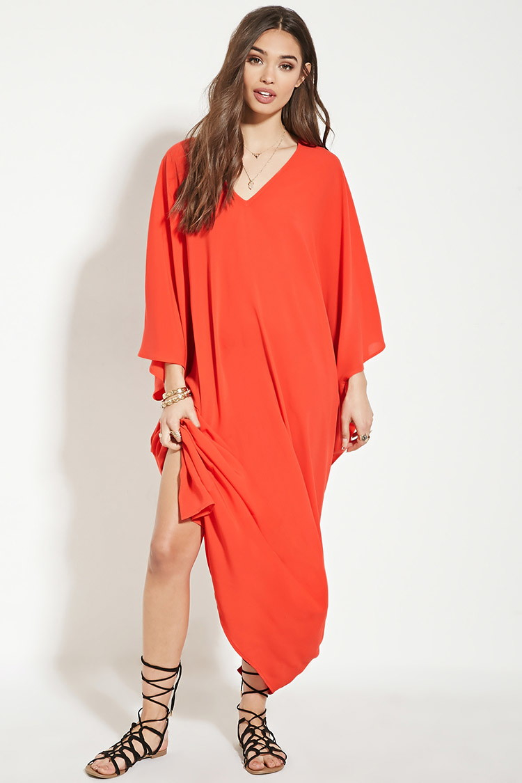 Forever 21 Kaftan Maxi Dress in Red